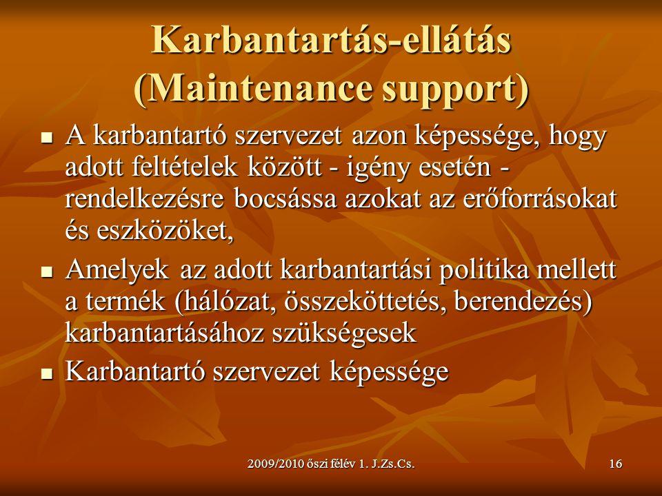 Karbantartás-ellátás (Maintenance support)