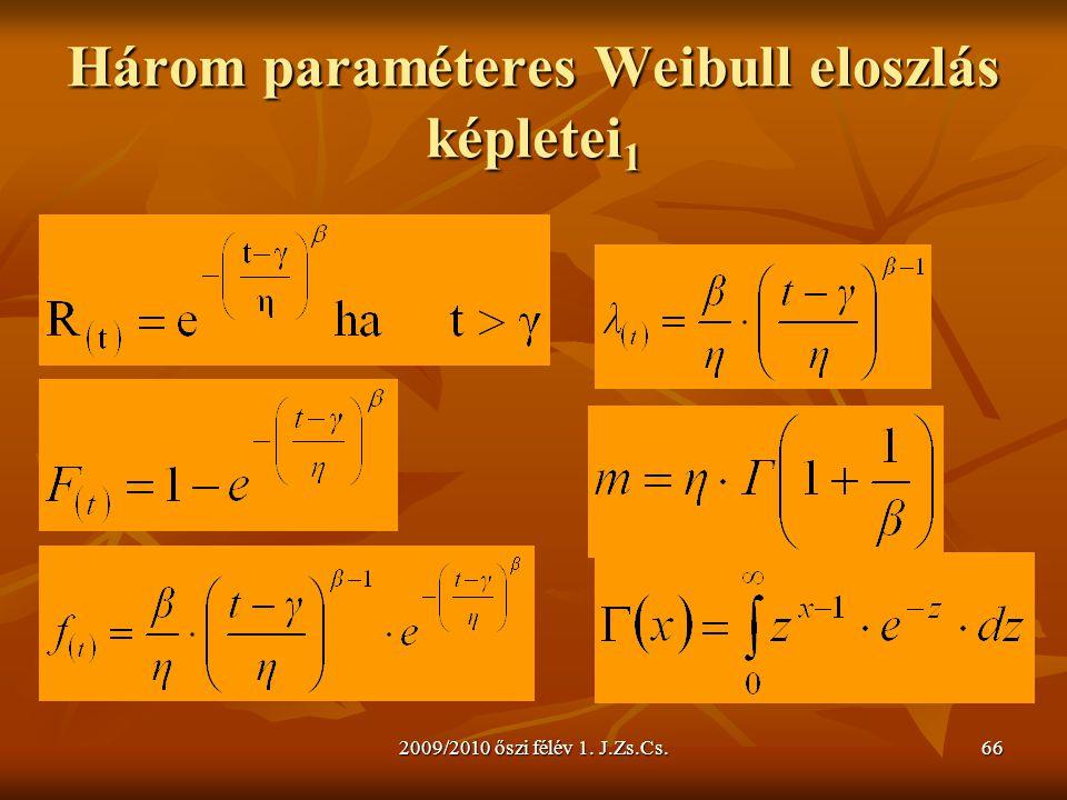 Három paraméteres Weibull eloszlás képletei1