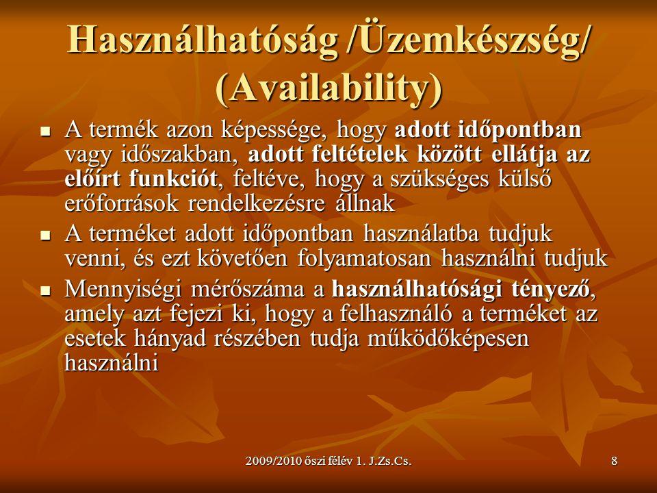 Használhatóság /Üzemkészség/ (Availability)