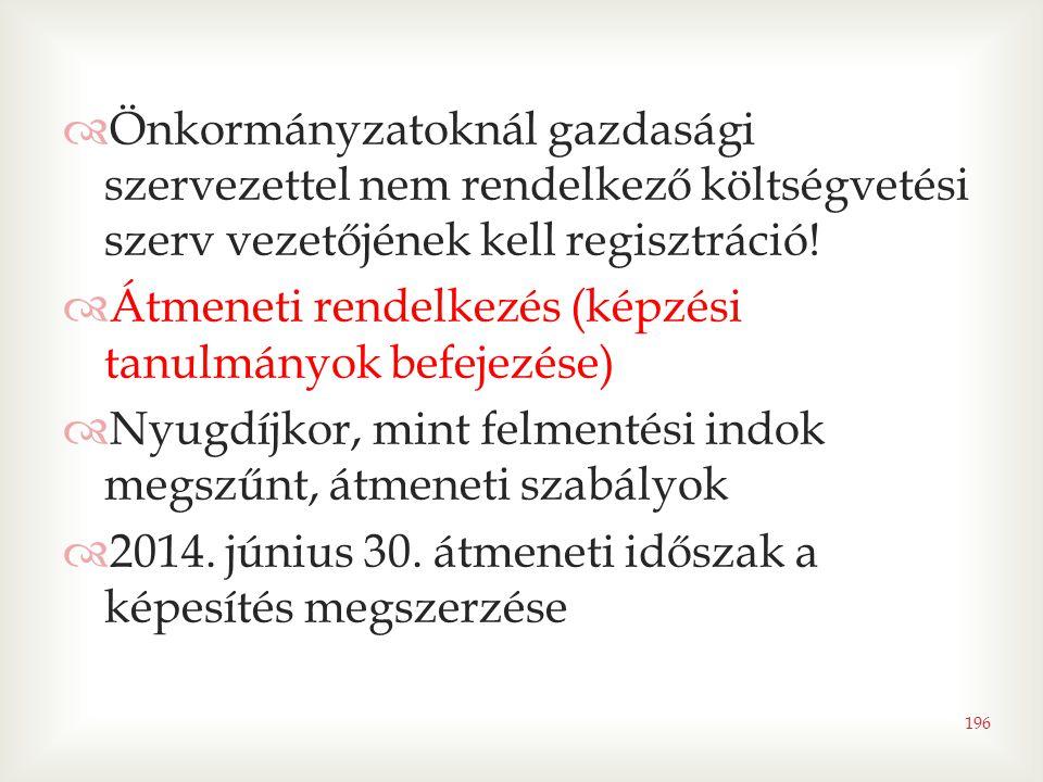 Önkormányzatoknál gazdasági szervezettel nem rendelkező költségvetési szerv vezetőjének kell regisztráció!