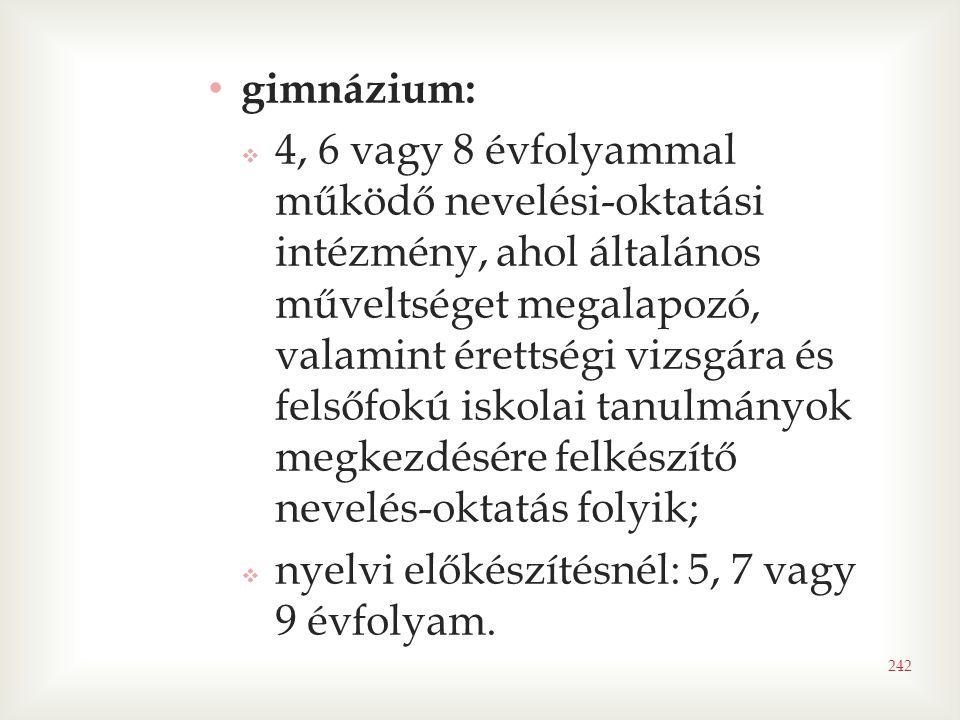 gimnázium: