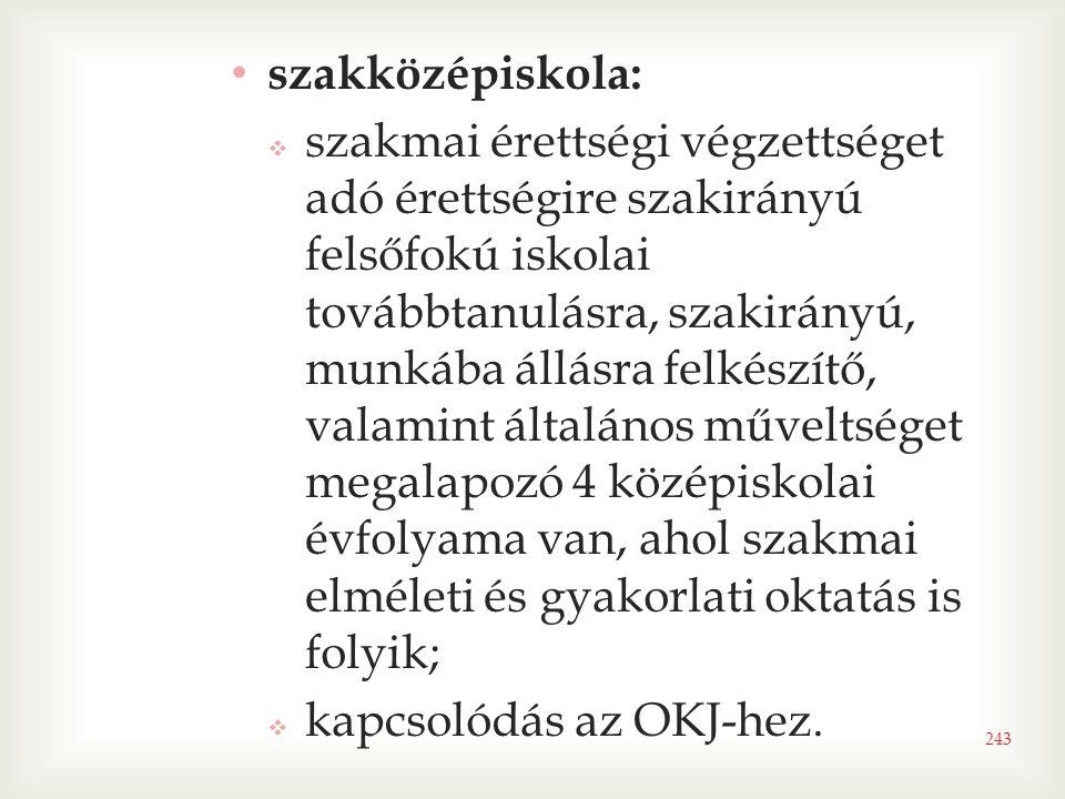 szakközépiskola: