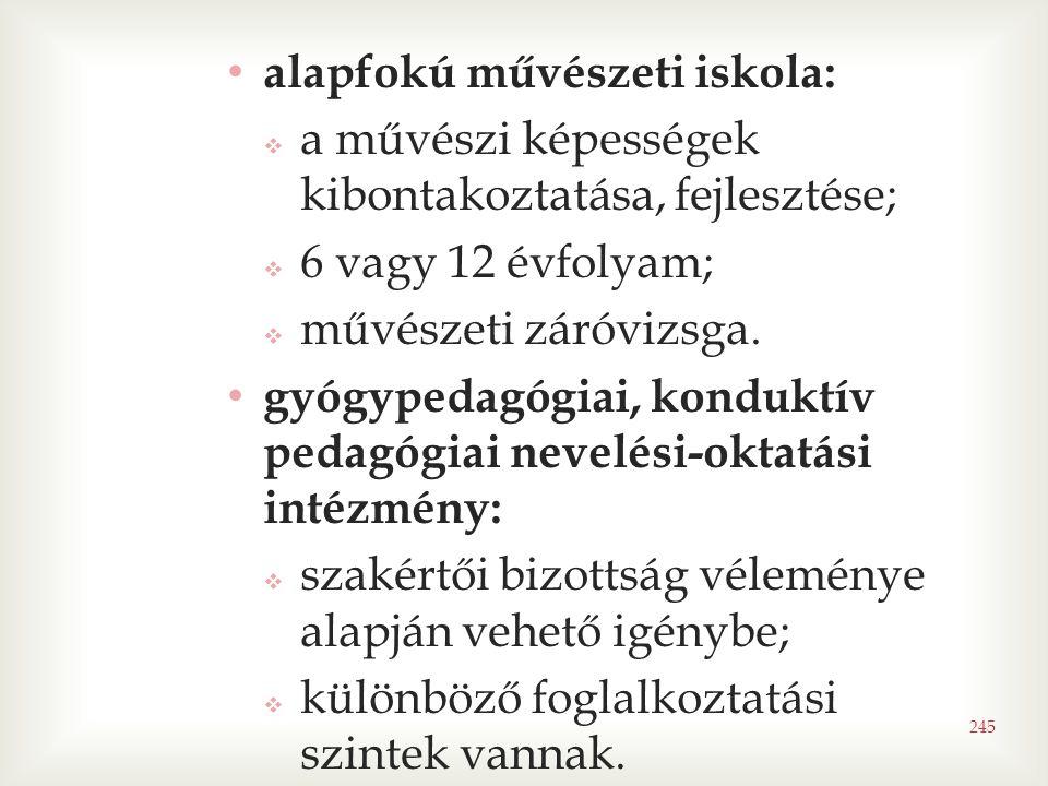 alapfokú művészeti iskola: