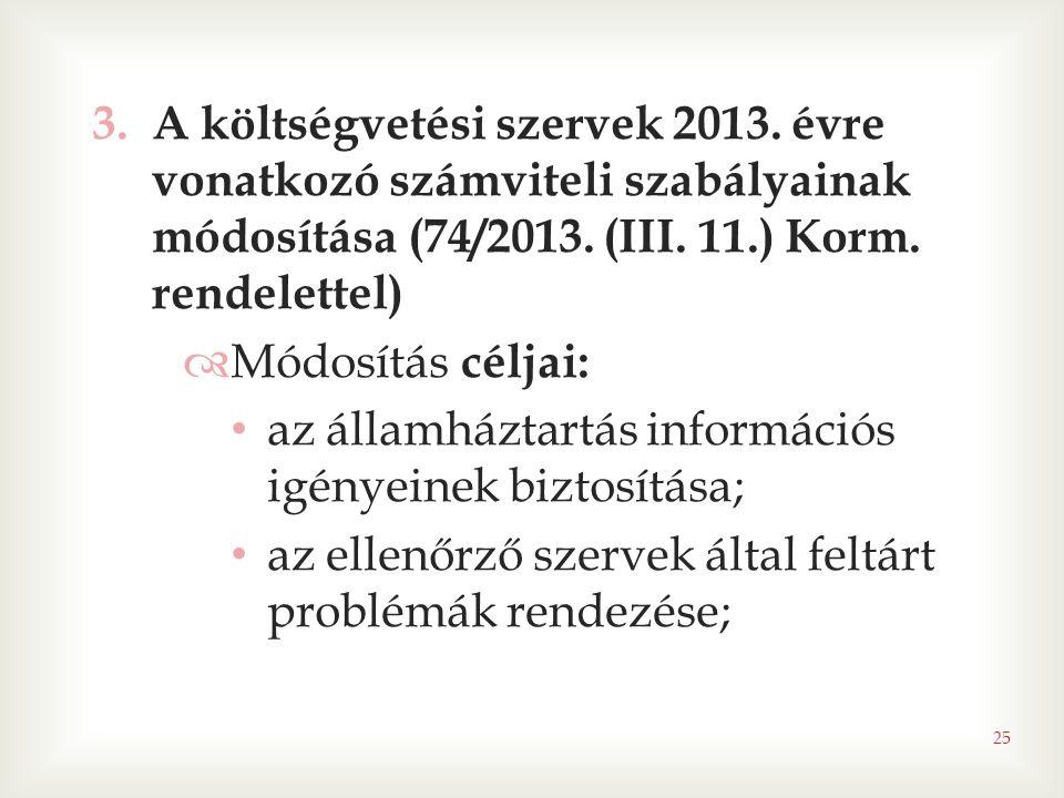 A költségvetési szervek 2013