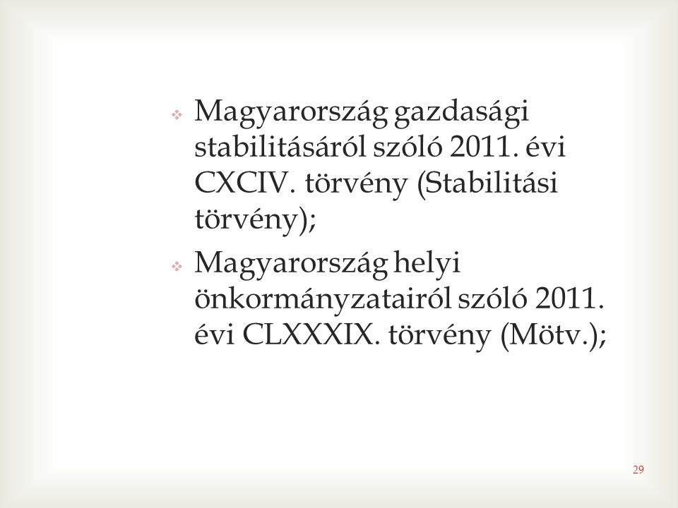 Magyarország gazdasági stabilitásáról szóló 2011. évi CXCIV