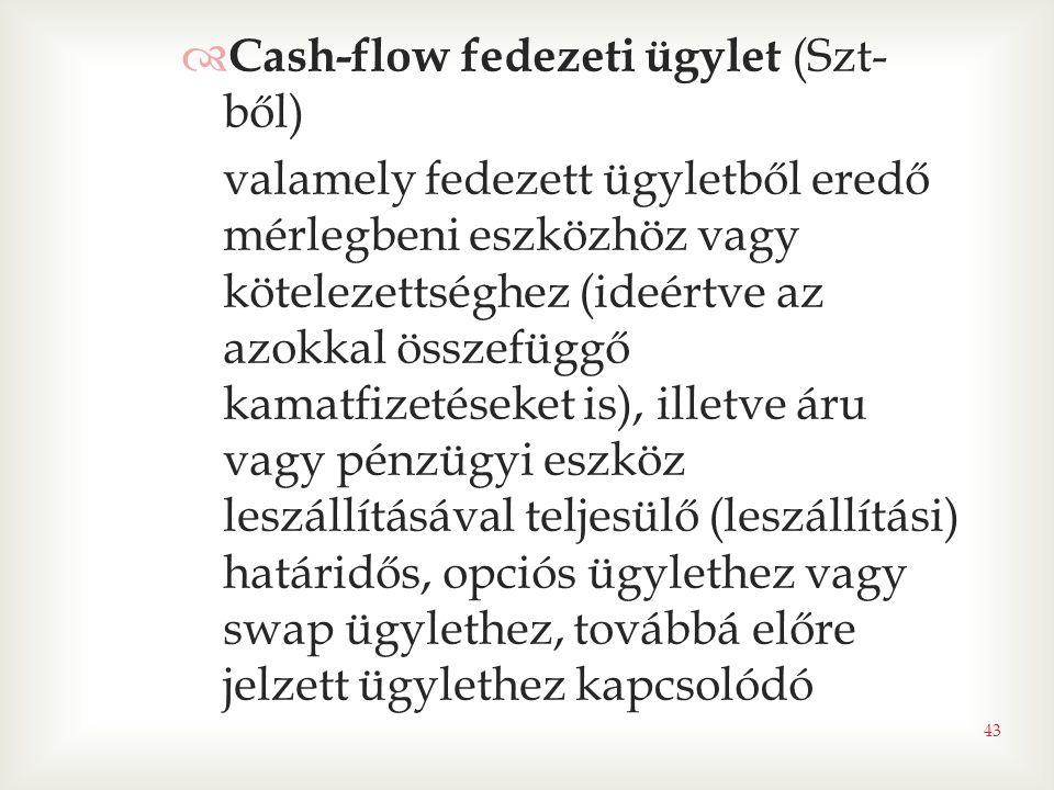 Cash-flow fedezeti ügylet (Szt-ből)
