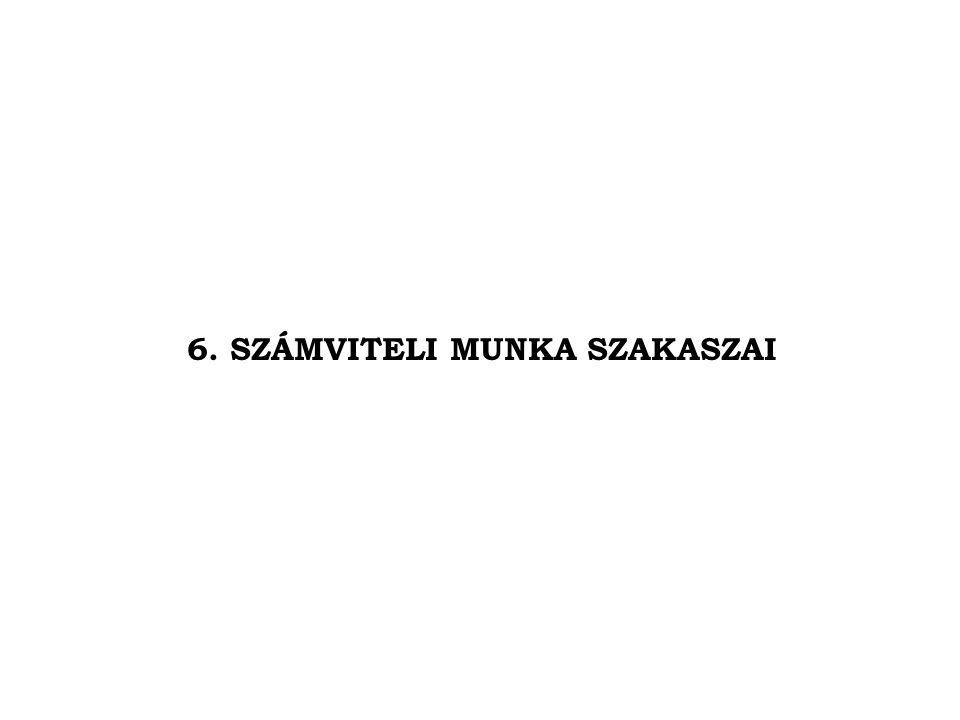 6. SZÁMVITELI MUNKA SZAKASZAI
