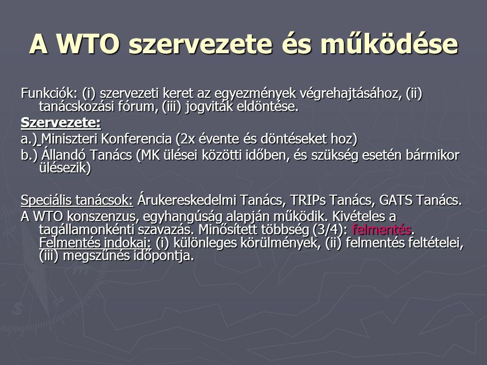 A WTO szervezete és működése