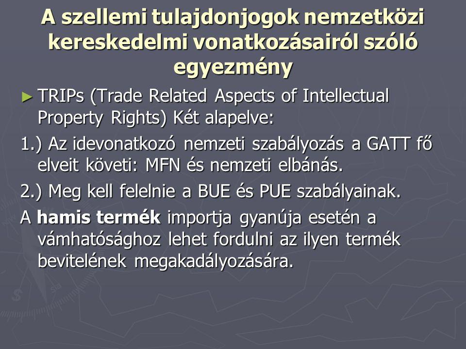 A szellemi tulajdonjogok nemzetközi kereskedelmi vonatkozásairól szóló egyezmény