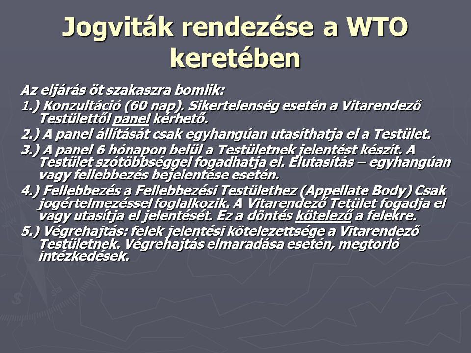 Jogviták rendezése a WTO keretében