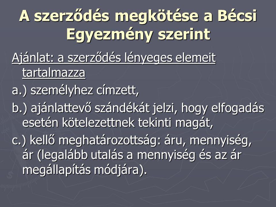 A szerződés megkötése a Bécsi Egyezmény szerint