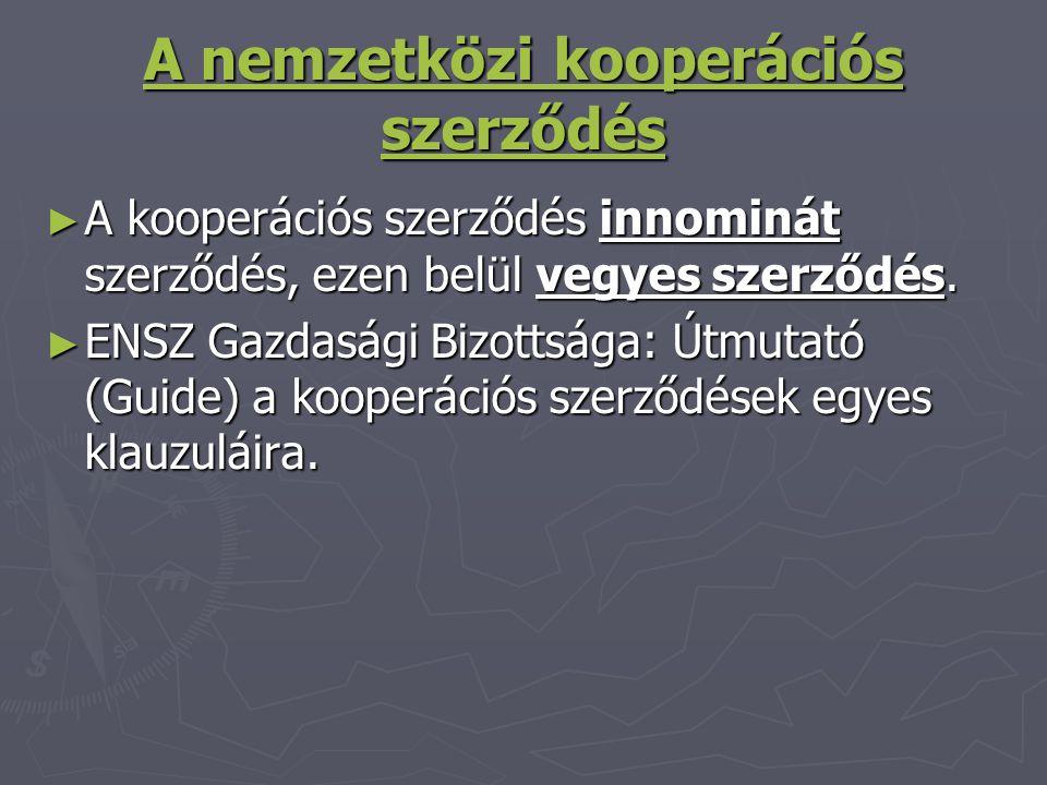 A nemzetközi kooperációs szerződés