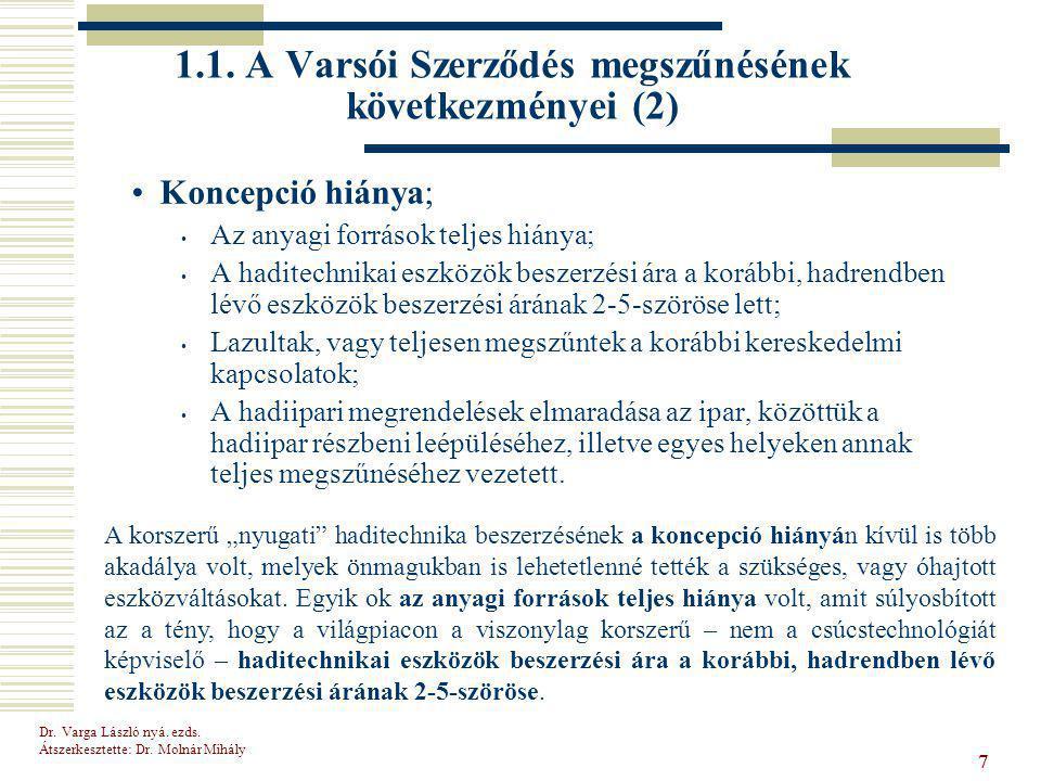 1.1. A Varsói Szerződés megszűnésének következményei (2)