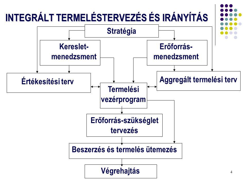 INTEGRÁLT TERMELÉSTERVEZÉS ÉS IRÁNYÍTÁS