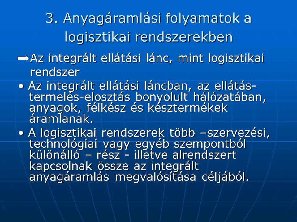 3. Anyagáramlási folyamatok a logisztikai rendszerekben