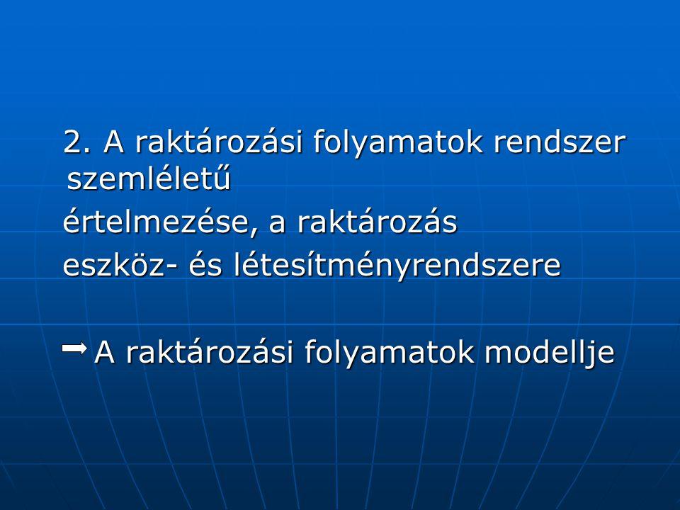 2. A raktározási folyamatok rendszer szemléletű
