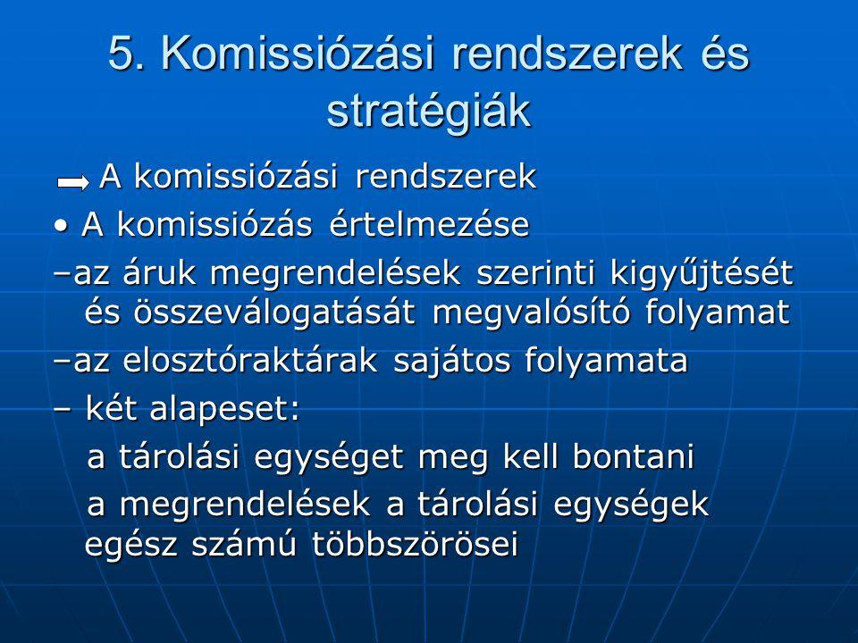 5. Komissiózási rendszerek és stratégiák