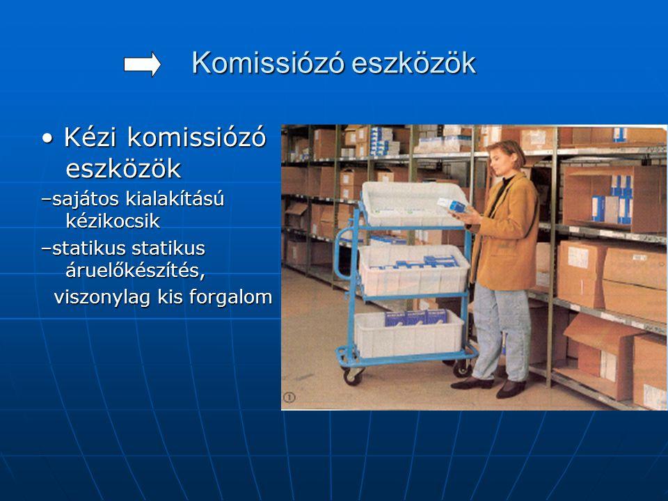 Komissiózó eszközök • Kézi komissiózó eszközök