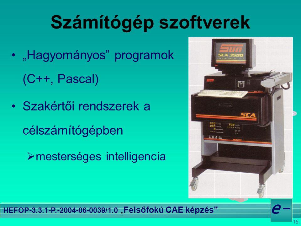 Számítógép szoftverek