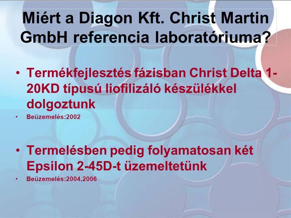 Miért a Diagon Kft. Christ Martin GmbH referencia laboratóriuma