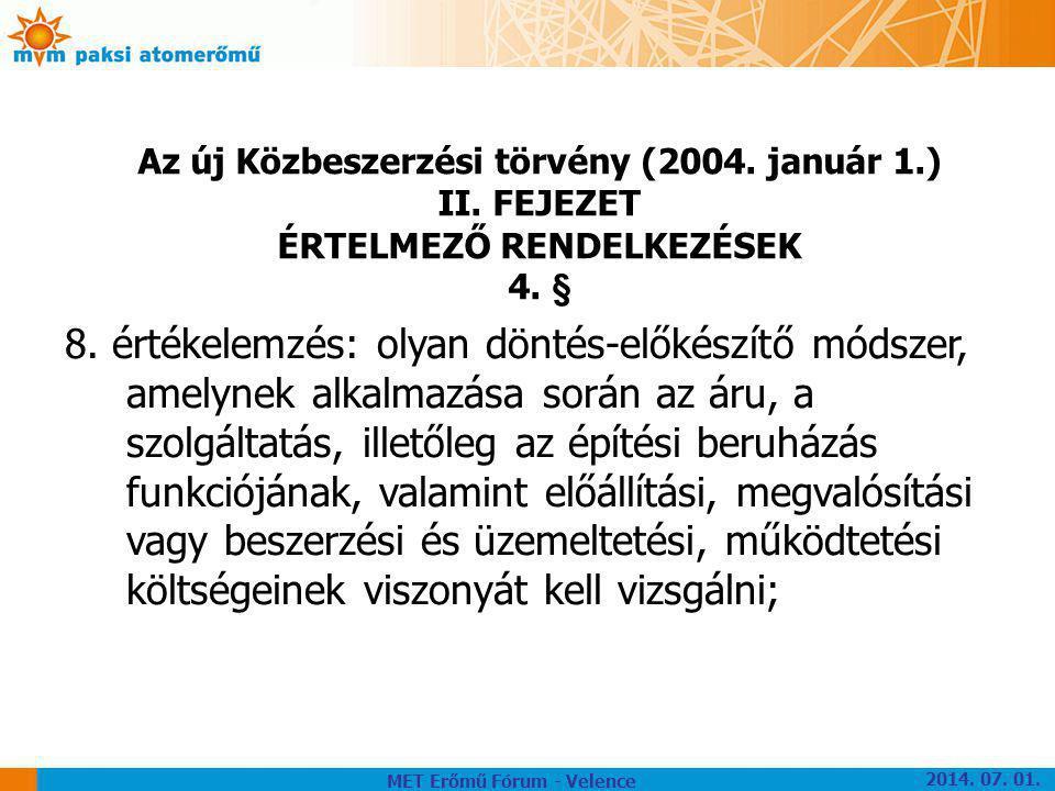 Az új Közbeszerzési törvény (2004. január 1.)