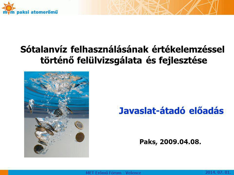 Sótalanvíz felhasználásának értékelemzéssel