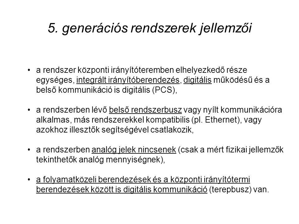 5. generációs rendszerek jellemzői