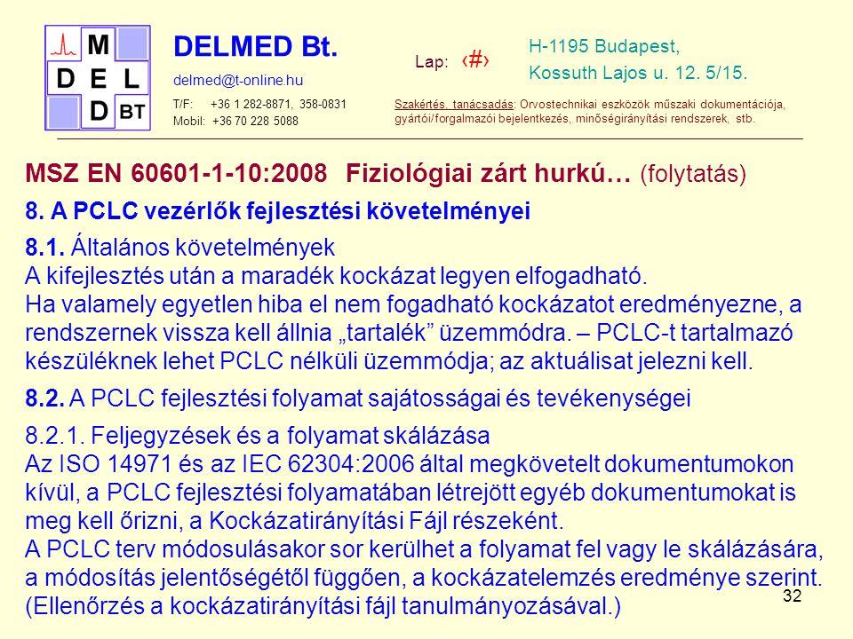 MSZ EN 60601-1-10:2008 Fiziológiai zárt hurkú… (folytatás)