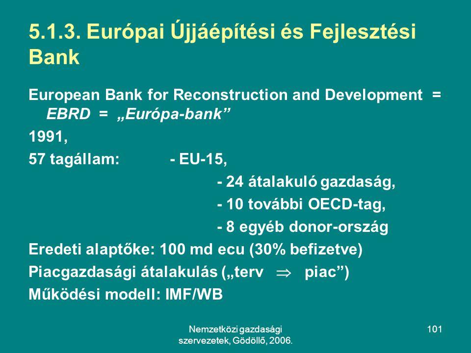 5.1.3. Európai Újjáépítési és Fejlesztési Bank