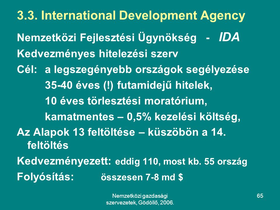 3.3. International Development Agency