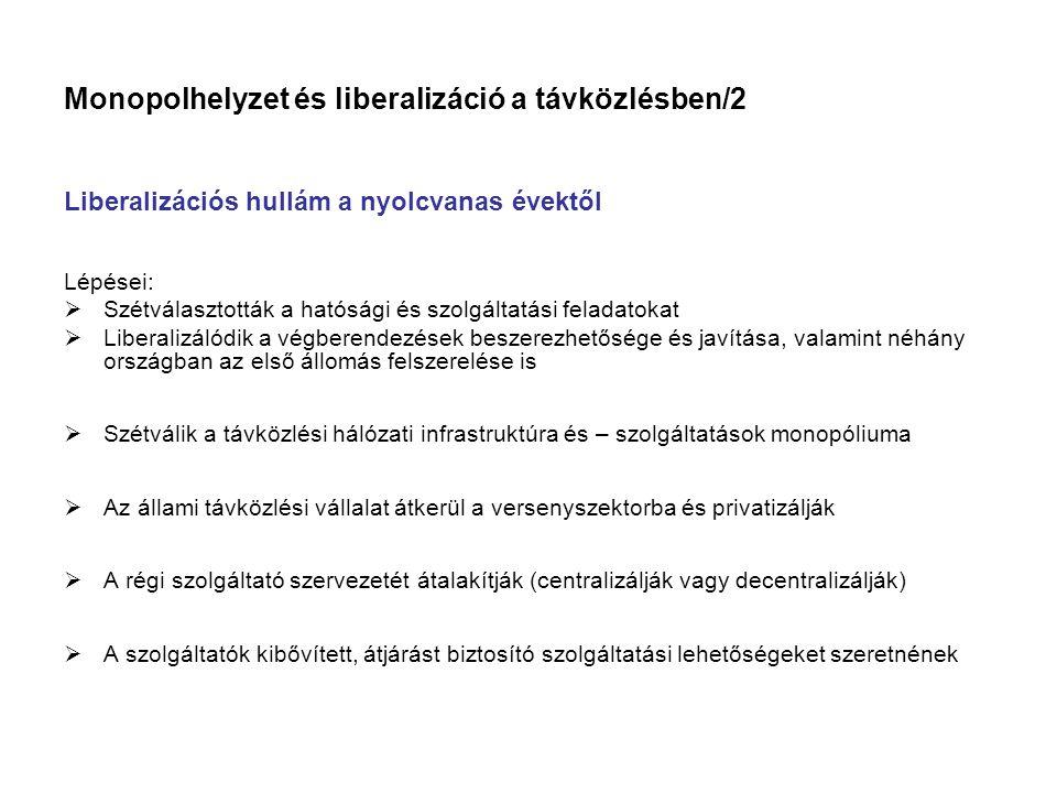 Monopolhelyzet és liberalizáció a távközlésben/2