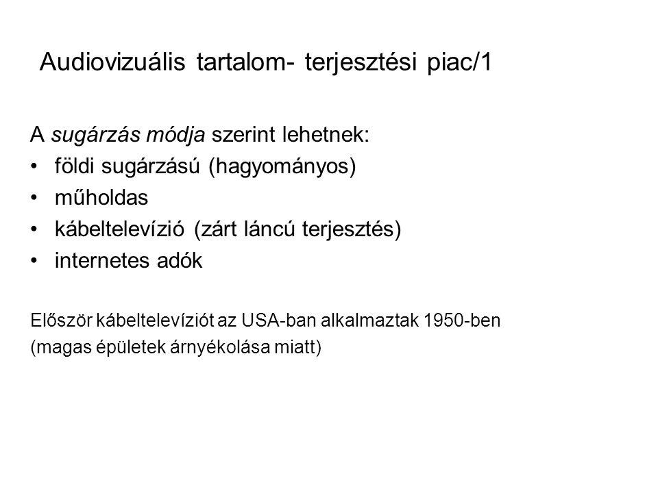 Audiovizuális tartalom- terjesztési piac/1