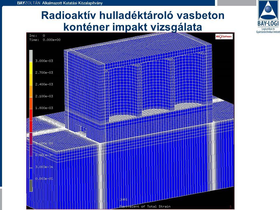 Radioaktív hulladéktároló vasbeton konténer impakt vizsgálata