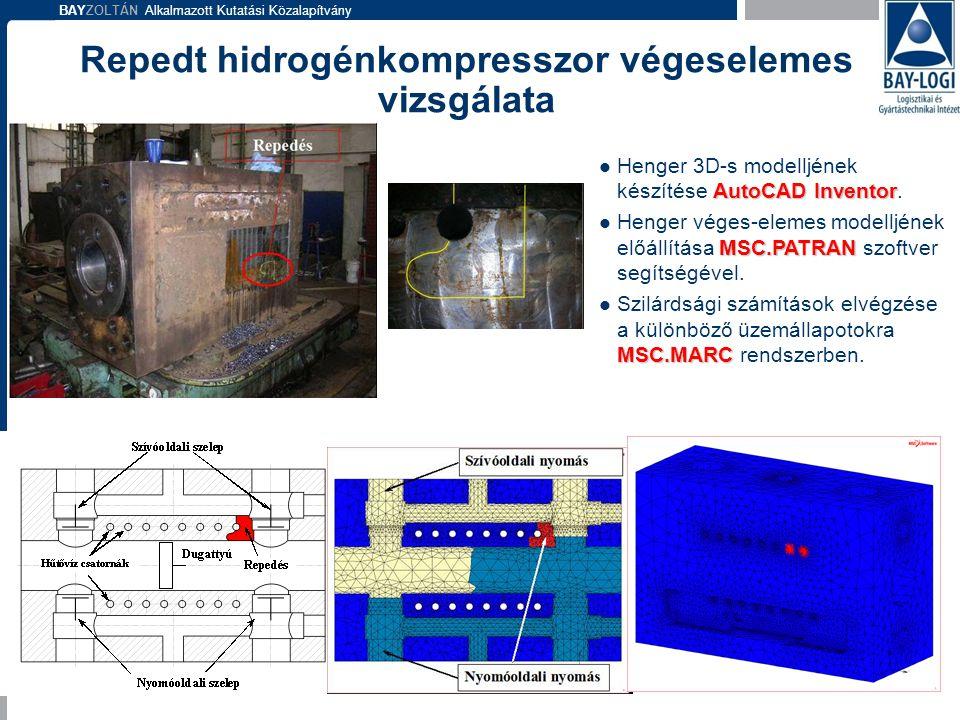 Repedt hidrogénkompresszor végeselemes vizsgálata