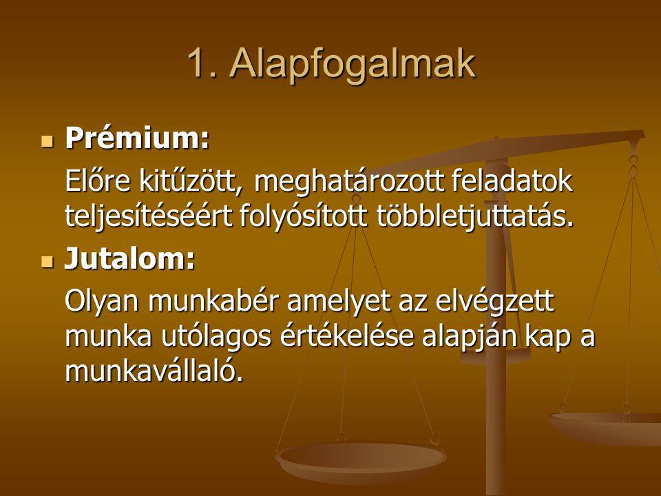1. Alapfogalmak Prémium: