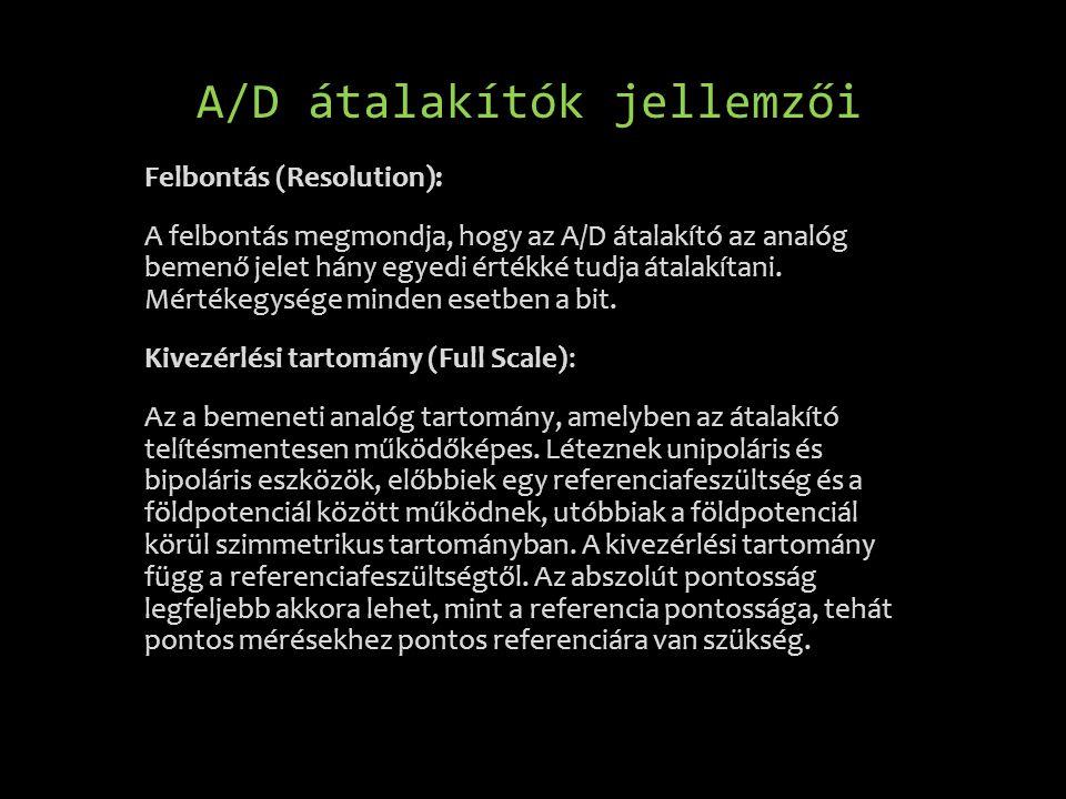 A/D átalakítók jellemzői