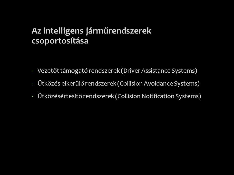 Az intelligens járműrendszerek csoportosítása