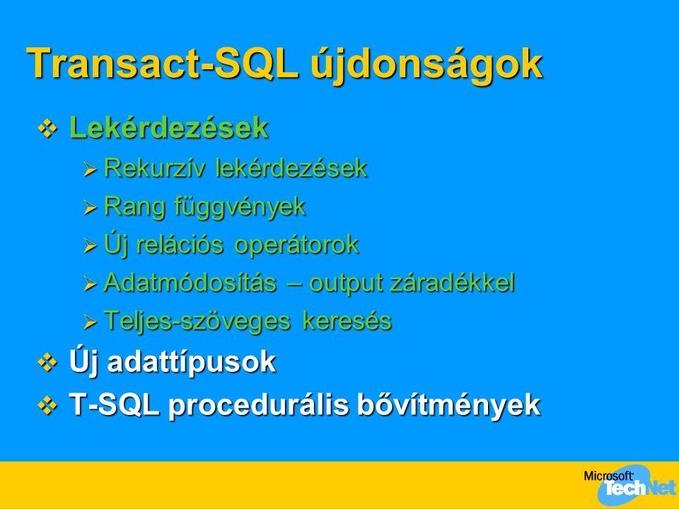 Transact-SQL újdonságok