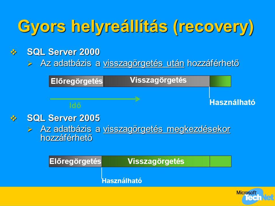 Gyors helyreállítás (recovery)