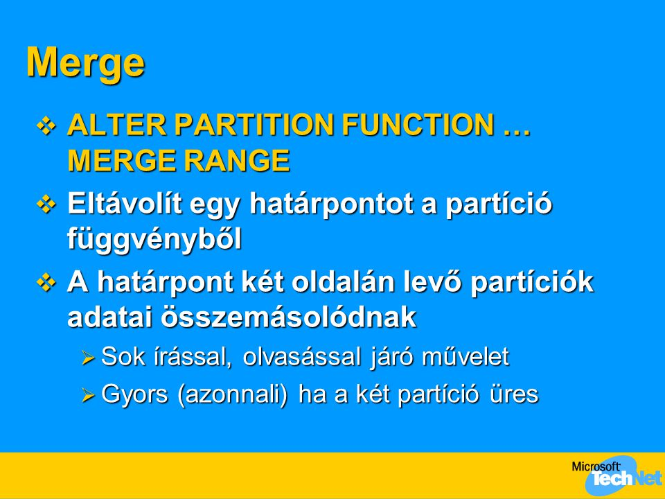 Merge ALTER PARTITION FUNCTION … MERGE RANGE
