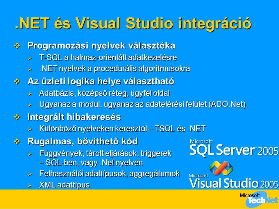 .NET és Visual Studio integráció