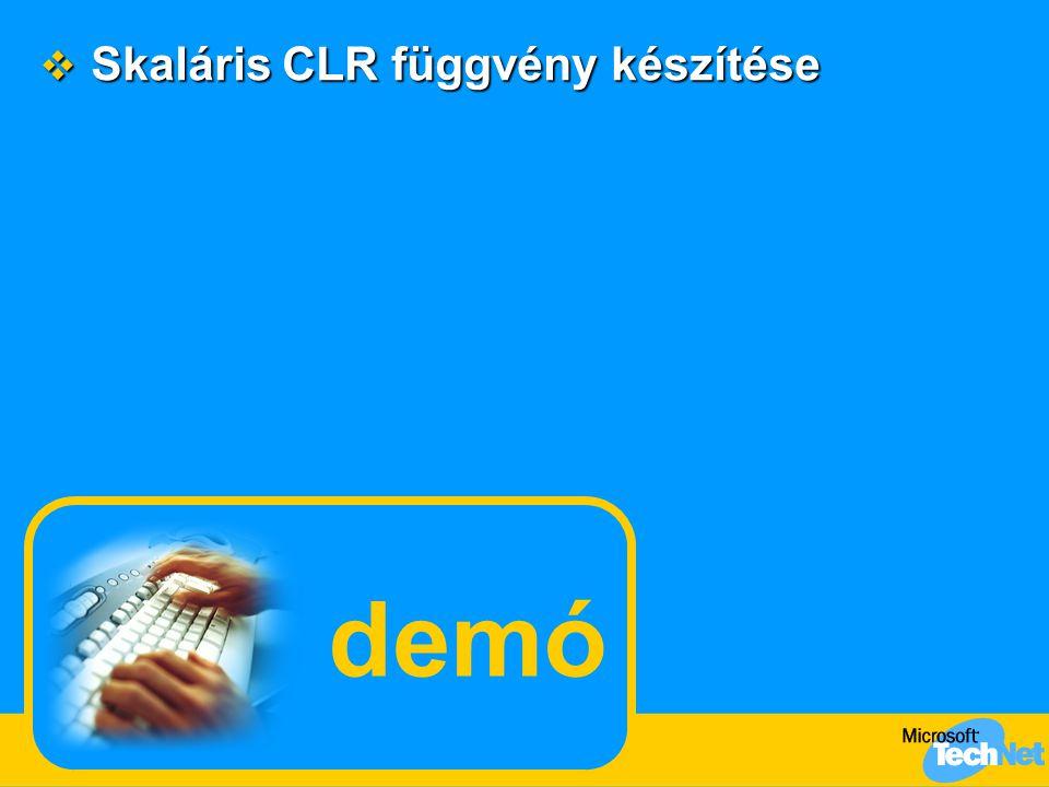 Skaláris CLR függvény készítése