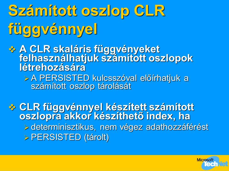Számított oszlop CLR függvénnyel