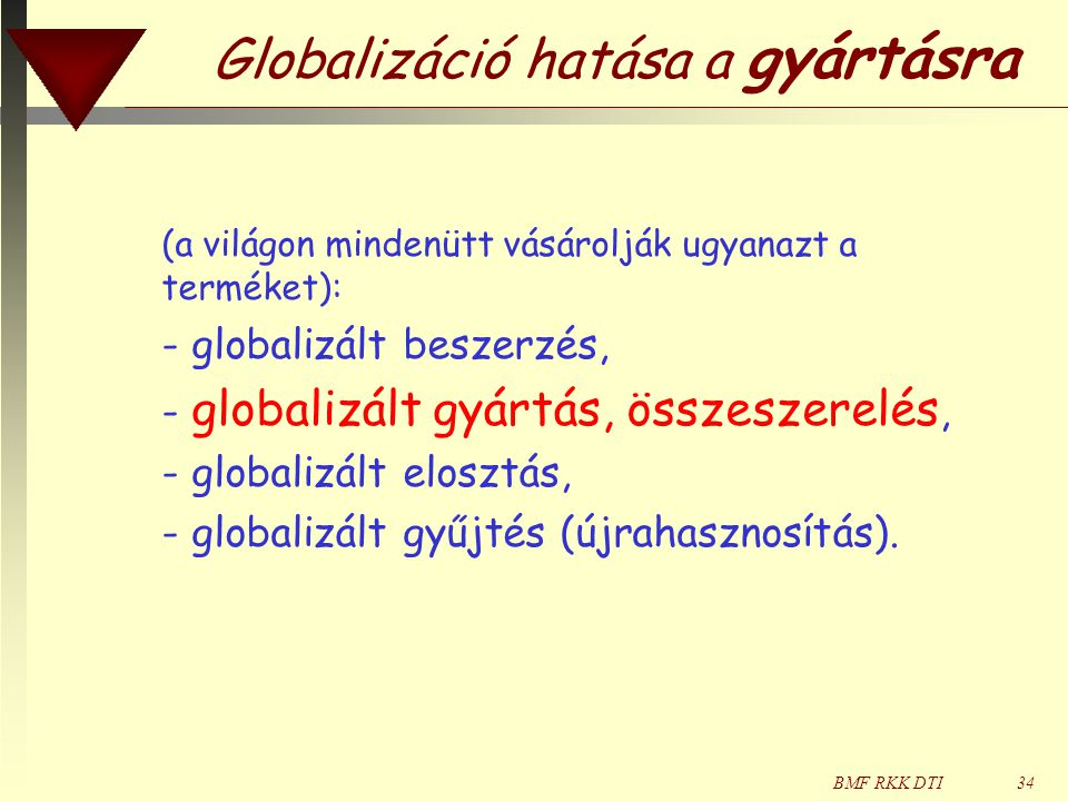 Globalizáció hatása a gyártásra