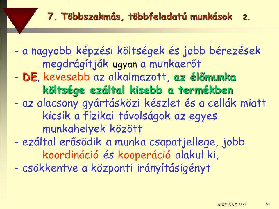 7. Többszakmás, többfeladatú munkások 2.