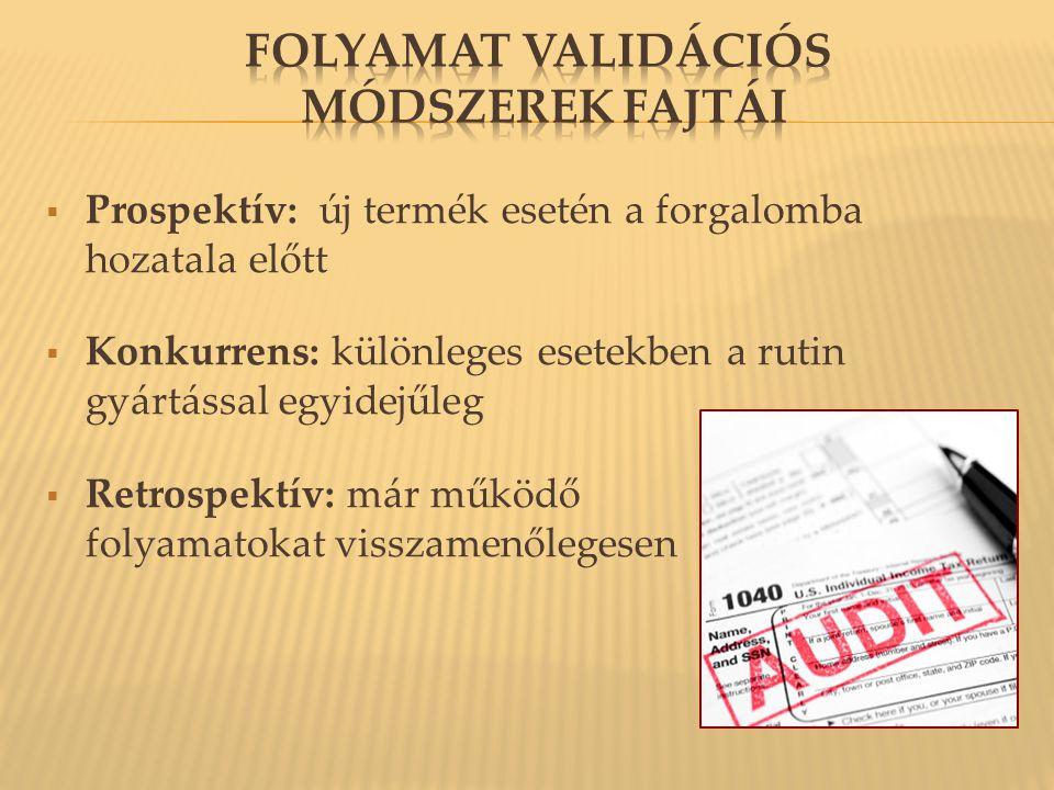 folyamat validációs módszerek fajtái