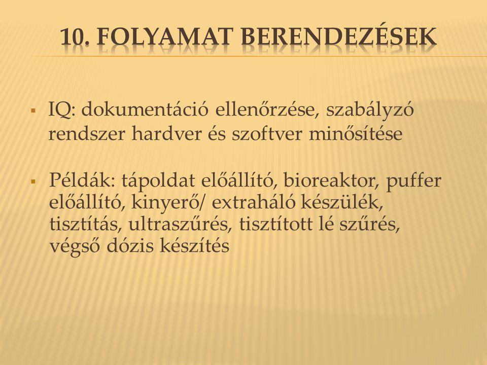 10. Folyamat berendezések