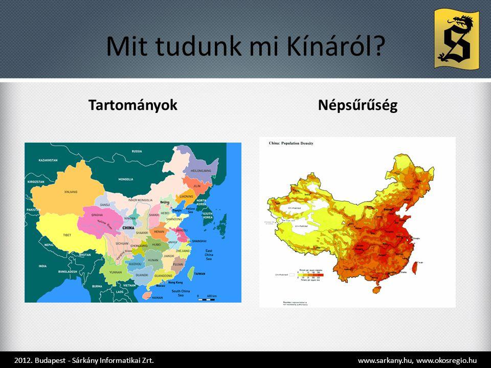 Mit tudunk mi Kínáról Tartományok Népsűrűség
