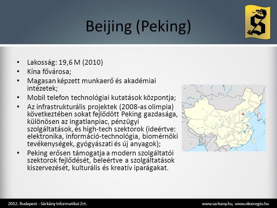 Beijing (Peking) Lakosság: 19,6 M (2010) Kína fővárosa;