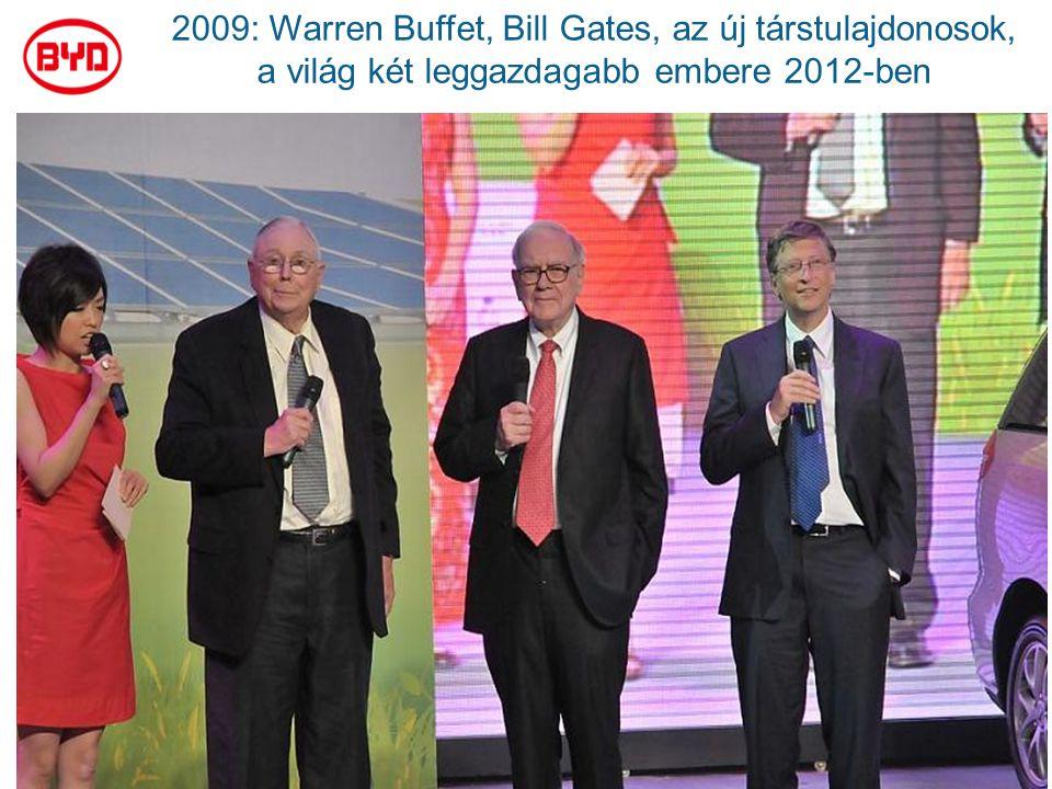 2009: Warren Buffet, Bill Gates, az új társtulajdonosok, a világ két leggazdagabb embere 2012-ben